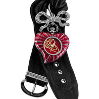 Vivienne Westwood Women's Women's Red Heart & Black Leather Watch - Red