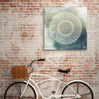 «AUTUMN LEAVES MANDALA», Numbered Edition Aluminum Print by nika martinez - From 55.00€ - Curioos
