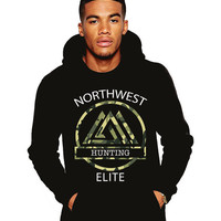 Hunting Hoodie - Northwest Elite - Hunter's Gift - Father's Day - Deer Hunting - Elk Hunting - Pacific Northwest - Camo - Duck Hunting
