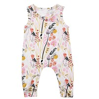 Baby Clothes born Baby Romper Summer Costume Overalls Floral Baby Girl Clothing