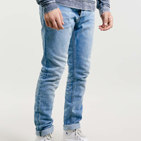 LIGHT WASH MARGATE SKINNY JEANS - Men's Jeans - Clothing - TOPMAN USA