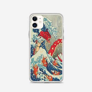 The Great Wave Of Kanto Pokemon iPhone 11 Case
