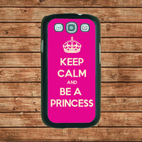 Samsung Galaxy S3 case---Keep Calm Be Princess,in plastic hard case,black or white or clear color
