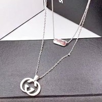 GUCCI New fashion GG letter pendant necklace women Silver