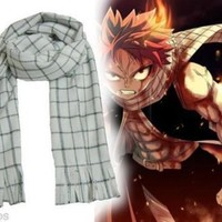 HOT 2016 Anime Fairy Tail Natsu Dragneel Scarf Cosplay Costume Cute Gifts
