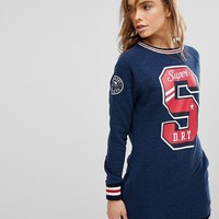 Superdry Collegiate Logo Sweat Dress at asos.com