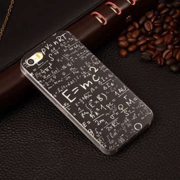 Mathematics Math Geometry Painting Rubber TPU Soft Mobile Phone Protective Case Cover For Apple iPhone 5/5S