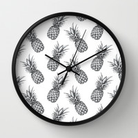 Pineapple Pattern Wall Clock by Sibling & Co.