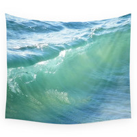 Society6 Teal Surf Wall Tapestry
