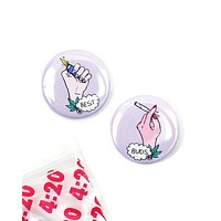 Best Buds 420 Pinback Button Set