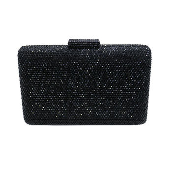 Black Purses With Rhinestones Crystal Evening Clutch Bags