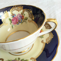 Antique Collingwood Fine Tea Cup and Saucer/Elegant Tea Party/Fine Bone China/Wedding Gift