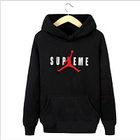 Supeme Jordan Hooded sweater sports jacket autumn men thin section casual clothes Black