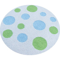Round Polka Dot Rug in Choice of Colors
