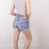 Vintage (MEDIUM) Levis 550 High Waisted Denim Shorts