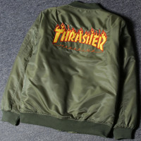 Thrasher Unisex Cardigan Jacket Coat