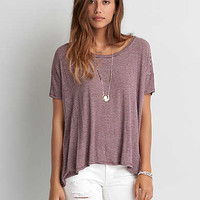 AEO STRIPE OVERSIZED T-SHIRT