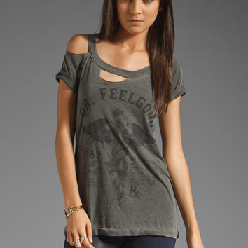 Chaser Dr. Feel Good Motley Crue Deconstructed Tee in Faded Black from REVOLVEclothing.com