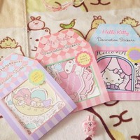 Kawaii Cartoon Hello Kitty Melody Twin Stars Pennants Paper Flag Banner Birthday Party Bunting Decoration Party Supplies G28