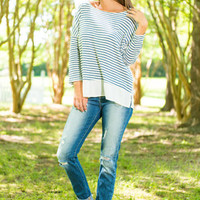Master Of Stripes Top, Navy