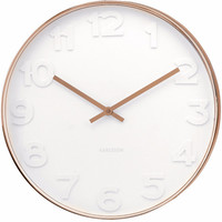 Karlsson Mr White Numbers Wall Clock Copper