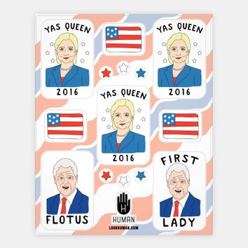 Yas Queen 2016 Hillary Clinton Stickers