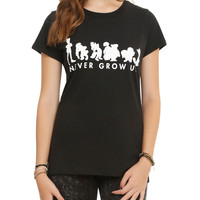 Disney Peter Pan Never Grow Up Girls T-Shirt
