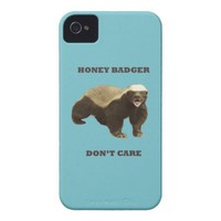 Blue Curacao Honey Badger Dont Care Case-Mate iPhone 4 Cases