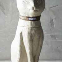 Contented Cat Cookie Jar by Anthropologie in Ivory Size: One Size Kitchen