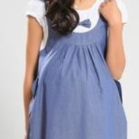 2013 summer maternity dress 2 piece set maternity one-piece dress pregnancy denim clothing bow clothes for pregnant women = 1958474884
