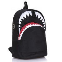 Anime Backpack School Vintage Graffiti kawaii cute Shark Printing Backpack Brand Designer Women Men Backpack for Teenage Boy Girl School Bags Laptop Bag AT_60_4