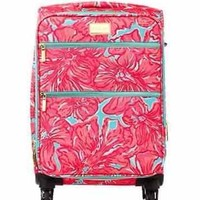 Lilly Pulitzer Limited Edition Sea Blue Flirty Carry On Suitcase Luggage NWT
