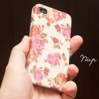 Apple iphone case for iphone iPhone 5 iphone 4 iphone 4s iphone 3Gs : Vintage Roses