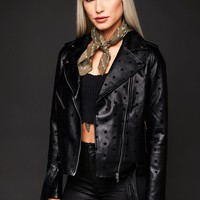 Made of Stars Vegan Leather Moto Jacket