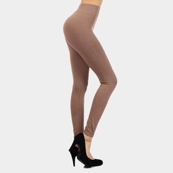 Solid High Waist Leggings (Click For More Colors)