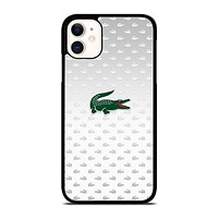 LACOSTE SILVER PATTERN iPhone 11 Case