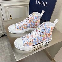 Dior Translucent film splicing high top shoes-4