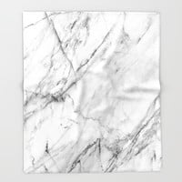 Marble Throw Blanket by Patterns And Textures