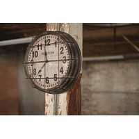 Metal New York Subway Clock