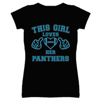 Youth This Girl Loves Her Carolina Panthers T-Shirt