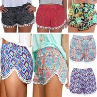 Hot Pants Women  Lady High Waist Pants Swimming Shorts Casual Beach Shorts Pants