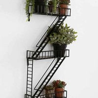 Fire Escape Wall Shelf- Black One