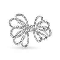 Bling Jewelry Bow on Top Brooch