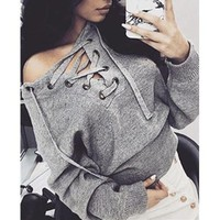 Fashion Strappy Top Pullover