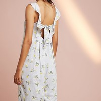 Floreat Ruffled Floral Jumpsuit