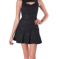 Stalking Sleeveless Dress - Black