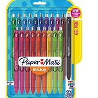 Paper Mate Inkjoy Gel Pens, Medium Point, Assorted, 20-Pack (1951718)