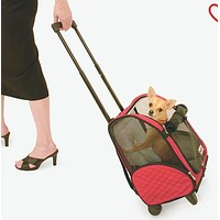 Rollaround Pet Carrier by Snoozer, Red or Black