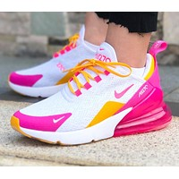 NIKE AIR MAX 270 Fashion Women Men Casual Air Cushion Running Sport Shoes Sneakers 1#