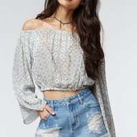 Kendall & Kylie Off The Shoulder Cropped Top - Womens Shirts
